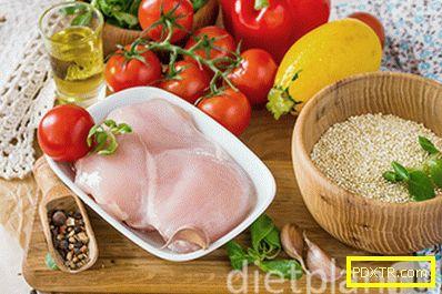 Кино с пиле и зеленчуци