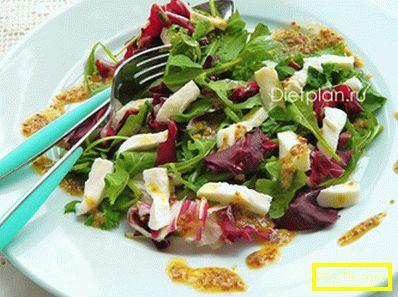 Бърза диетична вечеря - салата с моцарела
