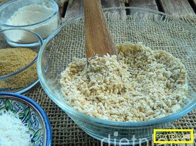 Печени скариди в кокосови талашчета с кисело мляко