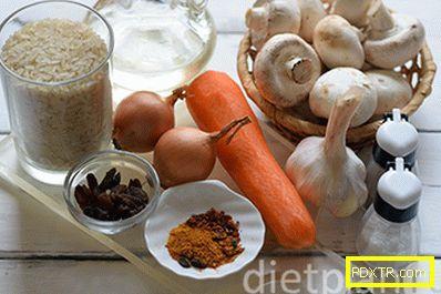 Вегетариански пилаф с шафран