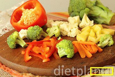 Печени зеленчуци със сирене