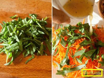 Салата от моркови с естрагон и ленени семена