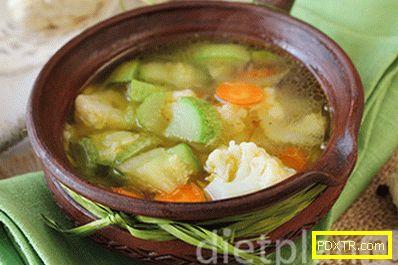 Сладка зеленчукова супа с карфиол
