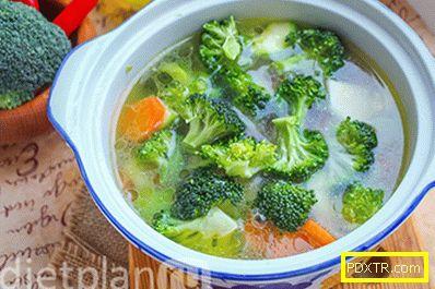 Зелена бронзова супа с пиле