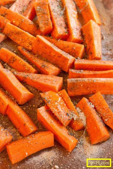 Карамелизиран морков с фета