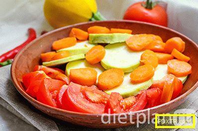 Диетично пилешко филе в пещ със зеленчуци