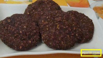 Бисквити от шоколадова овесена каша без захар
