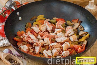 Кино с пиле, гъби и зеленчуци - как да готвите вкусно