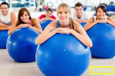 Fitbol за загуба на тегло: набор от упражнения, видео