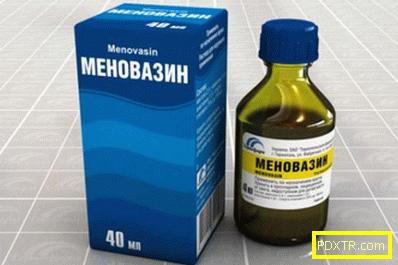Каква е употребата на разтвор на menovazine?