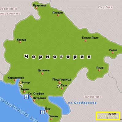 Черна гора - почивка, забележителности, време, кухня,