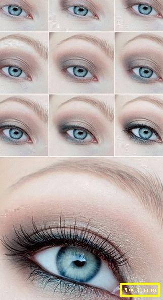 Грим за сини очи - как да го направя правилно