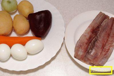 Шуба салата - рецепта с снимка и стъпка по стъпка описание