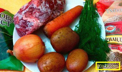 Супа с говеждо - рецепта с снимка и стъпка по стъпка