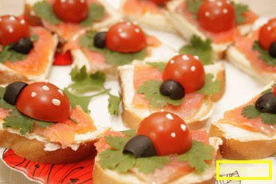 Сандвичи за рожден ден - рецепта с снимка и стъпка по стъпка