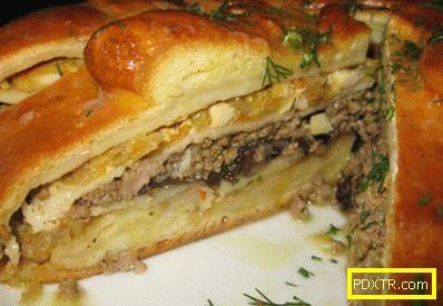 Kulebyaka с месо - най-добрите рецепти. как да готвя и