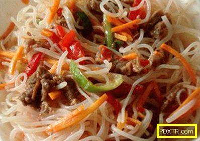 Funchoza със зеленчуци - най-добрите рецепти. как правилно и