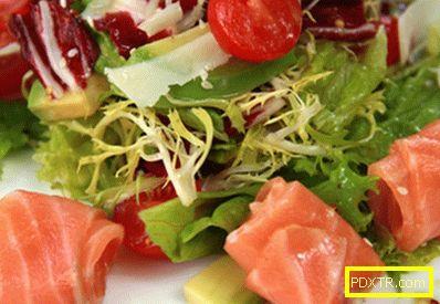 Салата със сьомга и домати - правилните рецепти. бързо и