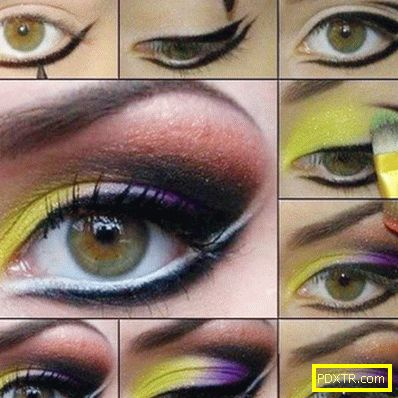 Необичаен грим - рисунки около очите