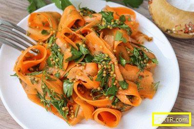 Моркови ориенталски - уникален предястие за само 10 рубли