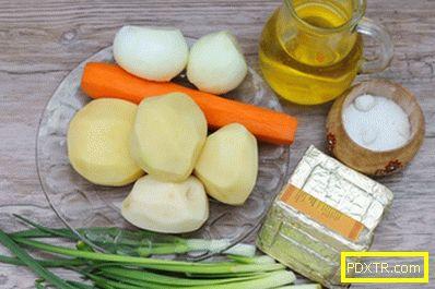 Супа от топени сирене торти - стъпка по стъпка рецепта с