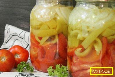 Салата за зимата от пипер и домати с аспирин - идеален начин