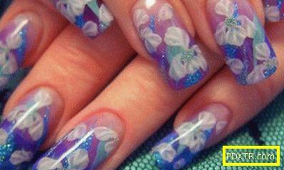 Характеристики на аквариумния дизайн на ноктите (снимка).