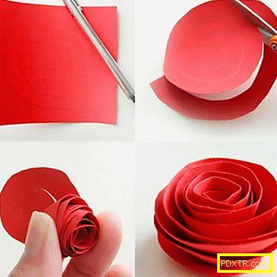Триизмерни цветя от хартия със собствените си ръце -