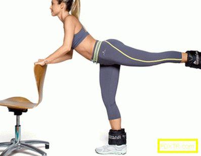Ефективни упражнения за бедрата у дома - снимка. комплект