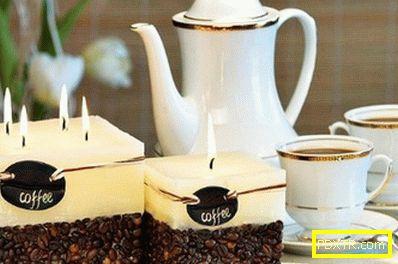 Занаяти от кафе на зърна със собствените си ръце. ароматна