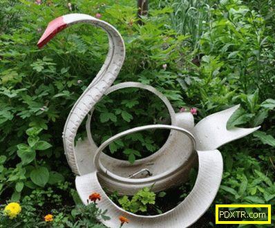 Лебеди от гумата със собствените си ръце - невероятна украса