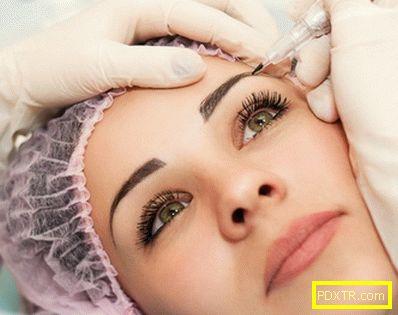 Татуиране на веждите - напускане на процедурата и важни