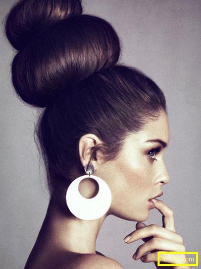 Конуси от коса - чисти и стилни! как да направите бучка на