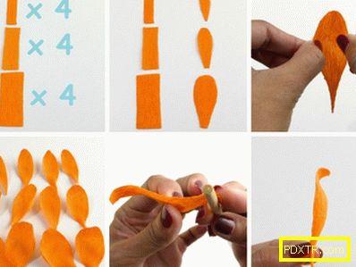 Чудотворно чудо: как да направите роза от гофрирана хартия.