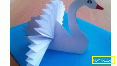 Как да направите лебед на хартия? варианти на фигури и