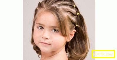 Прически за къси коси за момичета. малките момичета с къса