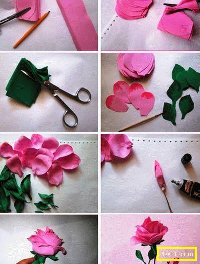 Цветя от famiiran със собствените си ръце: нежна лилия за