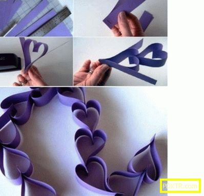 Гирлянди от хартия със собствените си ръце: ирисцентен венец