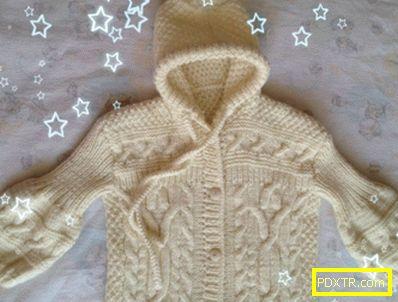 Костюми за новородени с игли за плетене: анораки. плетене