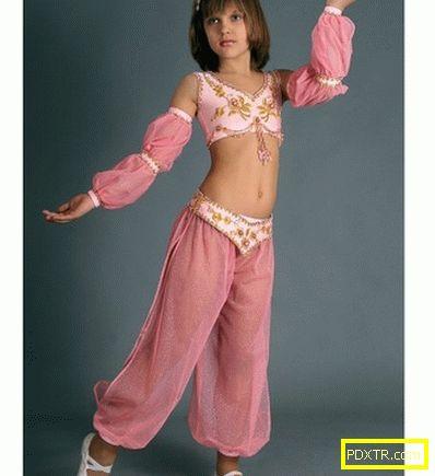 Ориенталски костюм за момиче със собствените си ръце: модели