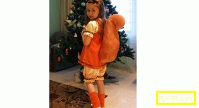 Костюмът на катеричка за момиче със собствените си ръце,