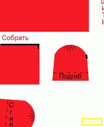 Червена костюма за момиче с ръце: изберете формата на