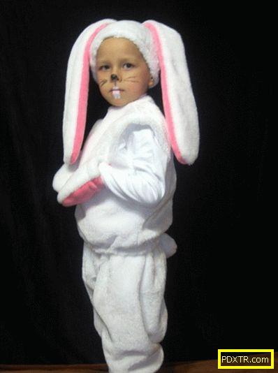 Стъпка по стъпка майсторски клас за шиене на костюм на зайче