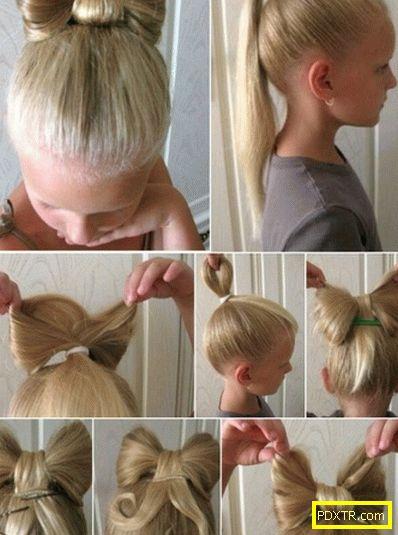 Детски прически за дълга коса - снимка. научете как бързо да