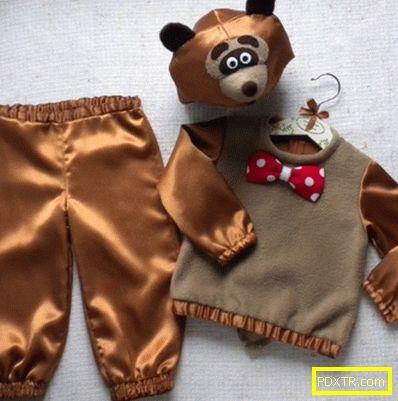 Костюмът на мечката със собствените си ръце за момчето е