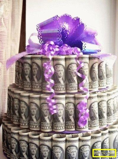 Торта за пари със собствените си ръце: за сватба, годишнина,