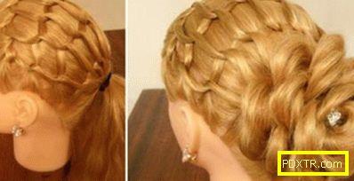 Прически за празник за момичета за дълга коса: опашки и