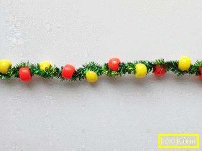 Как да направите коледно дърво от шенилна тел: майсторски