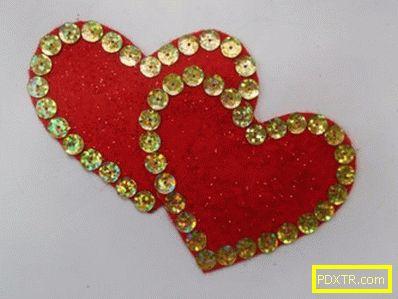 Валентин от филц със собствените си ръце: за деня на всички