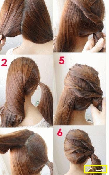 Прически за средна коса за момичета - бързо и лесно! модни